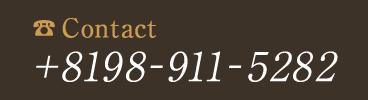 お問い合わせ +8198-911-5282